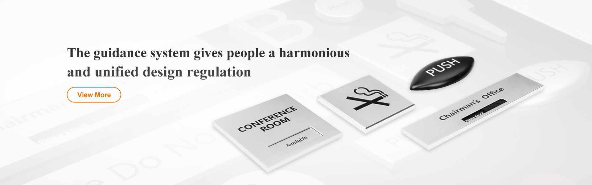 The guidance system gives people a harmonious and unified design regulation
